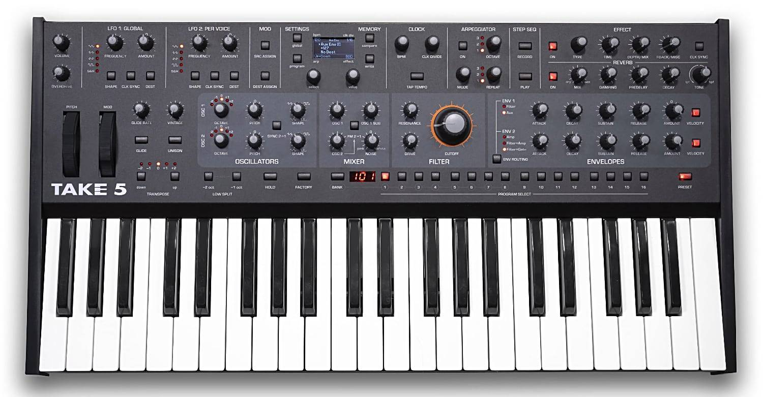 Analog synthesizer Sequential Take 5 is coming soon